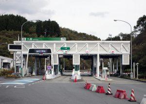 大分自動車道 天瀬高塚インター車線横断用安全通路